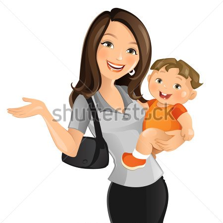 stock-vector-working-mom-158801600